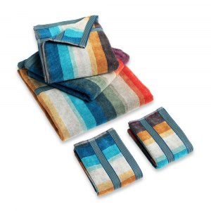 Missoni Bathroom 5 pieces - 1 bath sheet+2 bath towels+2 hand towels WOODY