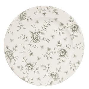 Piatto piano Grey Rose Chinitz Grigio 6 pezzi cm.diam.27,6