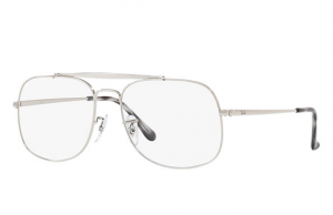 Ray Ban - Occhiale da Vista Uomo, General Optics, Silver RX6389 2501 C55