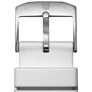 Cinturino in gomma bianco - 22 mm