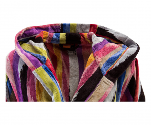 Missoni Home Bathrobe with hood multicolor striped HOMER