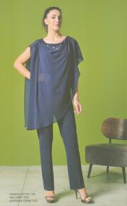 Completo 2 pz. cerimonia donna curvy composto da casacca e pantalone.