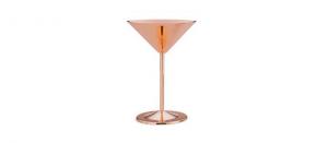 Coppa martini in acciaio inox placcato rame cl 23 cm.17,3h diam.12