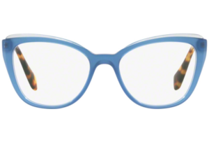 Miu Miu - Occhiale da Vista Donna, Core Collection, Top Transparent Blue MU 02QV VYC1O1 C53