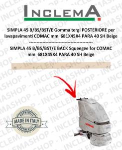 SIMPLA 45 B/BS/BST/E gomma tergi POSTERIORE per lavapavimenti COMAC