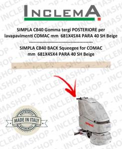 SIMPLA CB40 gomma tergi POSTERIORE per lavapavimenti COMAC