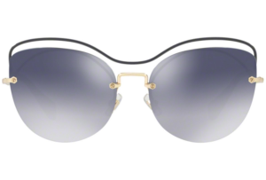 Miu Miu - Occhiale da Sole Donna, Core Collection Scenique Evolution, Blue/ Blue Grey Shaded MU 50TS UE63A0 C60