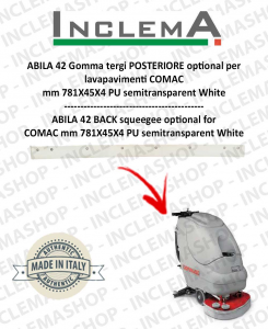 ABILA 42 gomma tergi POSTERIORE optional per lavapavimenti COMAC