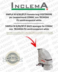 SIMPLA 50 B/BS/BT/E gomma tergi POSTERIORE optional per lavapavimenti COMAC
