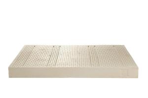 Materasso Lettino o Culla 100% LATTICE per Bambini h 12 cm con Cuscino ANTISOFFOCO su misura GRATIS, Rivestimento Sfoderabile Tessuto in Fibra di BAMBOO Anallergico Lavabile OLAF
