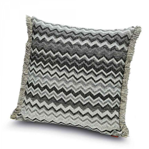 Decorative cushion 40x40 cm for living room Missoni Home WIPPTAL black and white