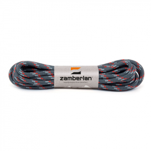 ZAMBERLAN® REPLACEMENT ROUND BOOT LACES    -   Anthracite/Grey/Red