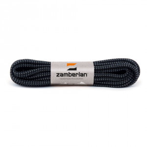 ZAMBERLAN® REPLACEMENT ROUND BOOT LACES    -   Black / Ash