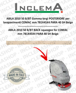 ABILA 2010 50 B/BT Gomma tergi POSTERIORE per lavapavimenti COMAC Old Alluminium Sq. 111011125