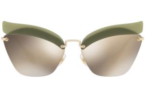 Miu Miu - Occhiale da Sole Donna, Special Project Catwalk Evolution, Green/Brown Gold MU56TS BY61C0 C63