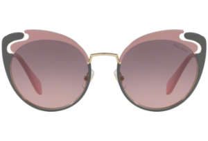 Miu Miu - Occhiale da Sole Donna, Core Collection Noir Evolution, Pink Grey/ Grey Pink Shaded MU57TS M1R146 C54
