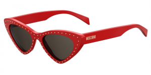 Moschino - Occhiale da Sole Donna, Red and Studs/ Dark Grey Shaded MOS006/S C9A/IR  C52