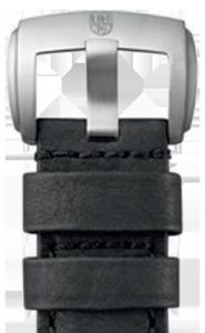 Cinturino Luminox in pelle nera - 28mm