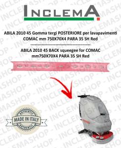 ABILA 45 Gomma tergi POSTERIORE per lavapavimenti COMAC Plastic sq. from 111011126