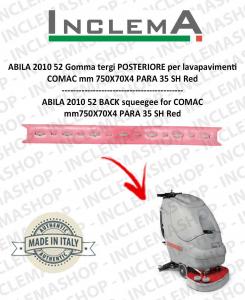 ABILA 52 Gomma tergi POSTERIORE per lavapavimenti COMAC Plastic sq. from 111011126