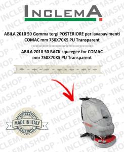 ABILA 2010 50 Gomma tergi POSTERIORE per lavapavimenti COMAC Plastic sq. from 111011126