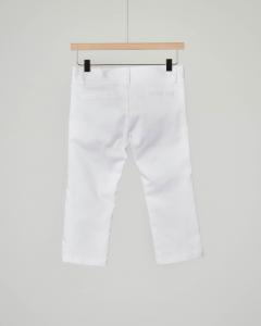 Pantalone chino bianco in raso stretch