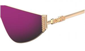 Moschino - Occhiale da Sole Donna, Flat Top Bijou Chain, Rose Gold/ Pink MOS022/S 000/VQ  C99