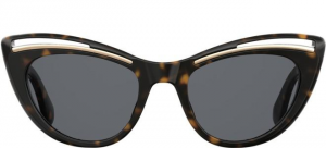 Moschino - Occhiale da Sole Donna, Black Tortoise/ Dark Grey MOS036/S 086/IR  C51