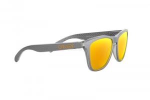 Oakley - Occhiale da Sole Unisex, Frogskins, Matte Grey/Prizm Ruby Polarized OO9013- 9013C1 C55