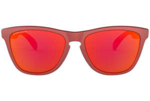 Oakley - Occhiale da Sole Unisex, Frogskins, Matte Red/Prizm Ruby OO9013- 9013C8 C55