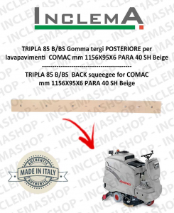 TRIPLA 85 B/BS Gomma tergi POSTERIORE per lavapavimenti COMAC