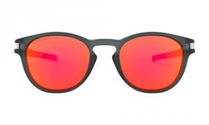 Oakley - Occhiale da Sole Uomo, Latch Grid Collection, Matte Crystal Black/Prizm Ruby  OO9265 926541 C53