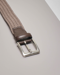 Cintura color tortora intrecciata