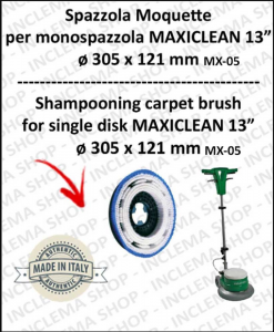 SPAZZOLA MOQUETTE per monospazzola MAXICLEAN MX-05 13