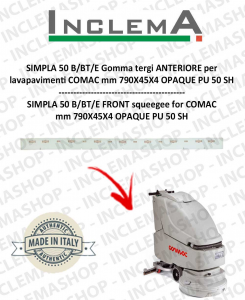 SIMPLA 2009 50 B/BT/E Gomma tergi ANTERIORE per lavapavimenti COMAC