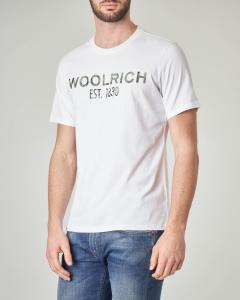 T-shirt bianca con logo floreale