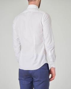 Camicia bianca in tessuto armaturato