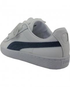 Puma Basket Heart Denim White-Blue Indigo-Silver 367835-01