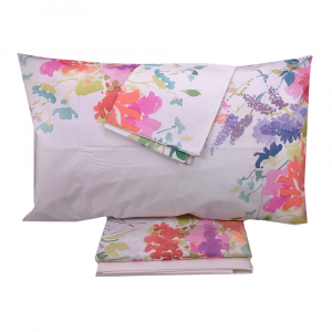 Lenzuola-copriletto matrimoniale TWINSET Printemps multicolore puro cotone