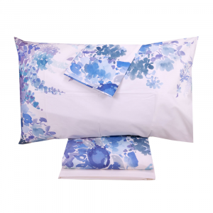 Double sheets-bedspread TWINSET Printemps bluette pure cotton