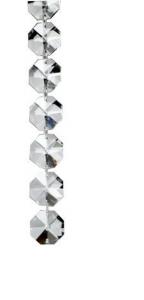 Catena ottagonale Strass cm.100x diam.1,4