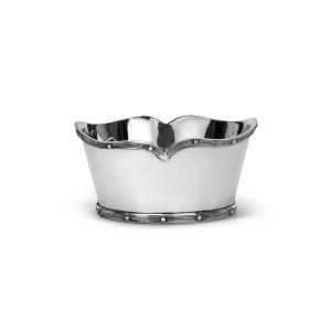 Ciotola ovale in Sheffield placcato argento cm.16x13x8h