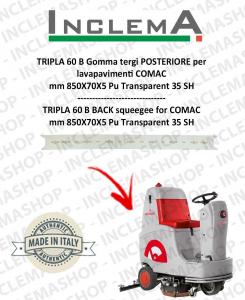 TRIPLA 60 B Gomma tergi POSTERIORE per lavapavimenti COMAC