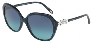 Tiffany & Co. - Occhiale da Sole Donna, Victoria, Blue Marble/Azure Gradient Blue Shaded  TY4132HB 82009S C57