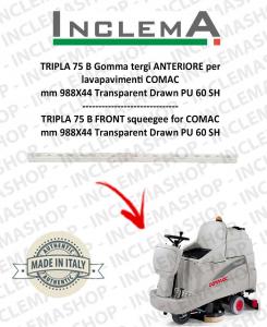 TRIPLA 75 B Gomma tergi ANTERIORE per lavapavimenti COMAC (tergi da 926mm)