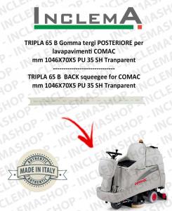 TRIPLA 65 B Gomma tergi POSTERIORE per lavapavimenti COMAC (tergi da 926mm)