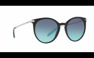 Tiffany & Co. - Occhiale da Sole Donna, City Hardwear, Matte Black/Blue Shaded  TY4142B 80019S C54