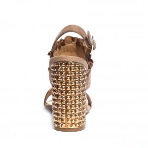 Sandalo nudo con tacco lavorato Adele Dezotti