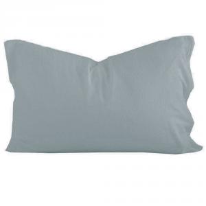 Federa sfusa 50x80 cm in puro lino LOFT tinta unita - azzurro polvere