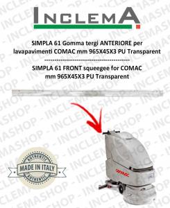 SIMPLA 61 Gomma tergi ANTERIORE per lavapavimenti COMAC